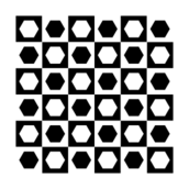 hexagon,square,chessboard