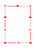 heart candy love valentine borderValentines Day Candy Borders Free