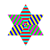 star,hexagram,multicolor,diamond,rainbow