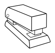 line art,stapler,stapling machine