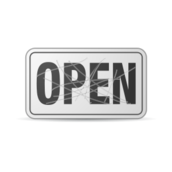 open,sign,scratched,damaged