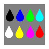 water,drop,waterdrops,triangle,circle,color