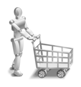 robot,shopper,shopping,market,basket