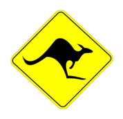 kangaroo,australia,road sign,roo