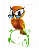 owl,bird,anthropomorphized,cartoon,smart,wise,glasses,spectacle,perched