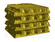 gold material stock pile golden
