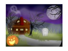 halloween,haunted,house,fog,foggy,spooky,creepy,scary,horror,haunt,spirit,dead,death,night,scene,holiday,seasonal