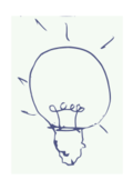 bulb idea freehand,bujung,bulb idea freehand