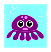 funny,octopus,poulpe,pieuvre,cartoon,animal,colour,eye