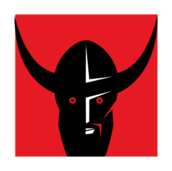 viking,head,red,black