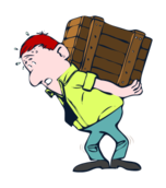 people,man,carrying,box,cartoon