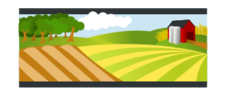 landscape,farm,agriculture,tree,cartoon,nature