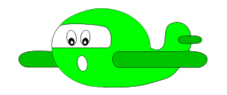 oops,airplane,face,expression,cartoon,emotion,green