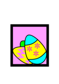 easter egg,easter,egg,pink,blue,three,yellow,box