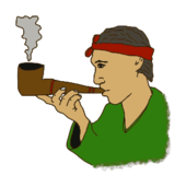 pipe,man,cartoon,colour,smoking,old,media,clip art,public domain,image,png,svg