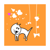 media,clip art,public domain,image,png,svg,cat,play,child,butterfly,colour,animal