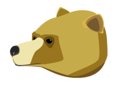 animal,mammal,wild,bear,grizzly,head,media,clip art,public domain,image,png,svg