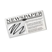 media,clip art,public domain,image,png,svg,newspaper,paper,symbol,news,journal,text