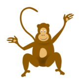 media,clip art,public domain,image,svg,png,monkey,animal,mammal,colour,cartoon