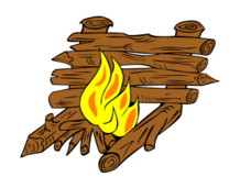 camping,fire,camp,cook,pot,boil,crane,scouting,colouring book,council,star,hunter,reflector,log,trench,teepee