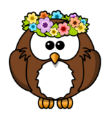 owl,cartoon,bird,funny,animal,garland,spring,flower