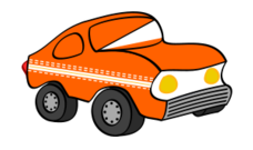 car,orange,funny