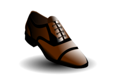 black and brown shoe