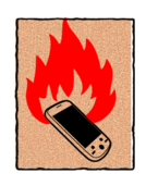 quemar,quema,burn,phone,cell,movil,phone cellphone
