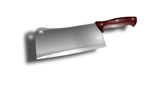 cleaver,chopping knife,kitchen,household good,cut