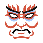 kabuki,japan,theatrics,entertainment,face,make-up
