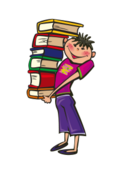 cartoon,boy,school,day,book