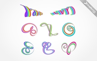 colorful,ribbon,set,color,rainbow,misc,object,lace