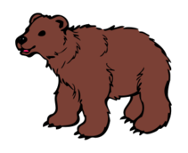 animal,mammal,bear,roar,cute,hairy,cartoon,cub,brown