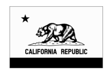 Flag Of California Thin Border Monochrome