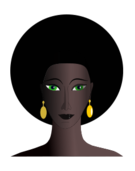 media,clip art,public domain,image,png,svg,cartoon,people,woman,face,green,eye,black,afro,hair