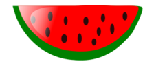 Watermelon clip art vector, free vector images - Vector.me