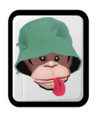 animal,mammal,ape,monkey,face,hat,color,no_contour