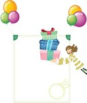 balloon,gift,little,girl
